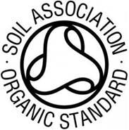 Image of logo for Soil Association Organic Standard for t-shirt production.