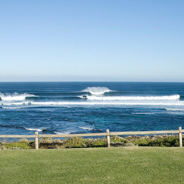 Photograph of surf at Margaret River, Western Australia.