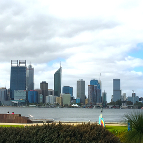 Swan River foreshore at South Perth.