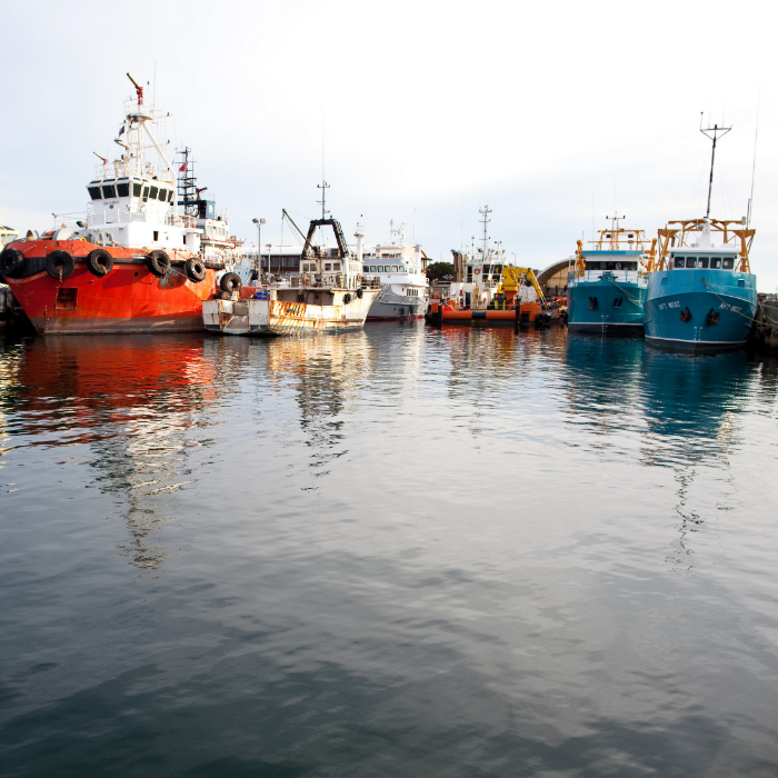 Fishing boats at Fremantle, Western Australia.