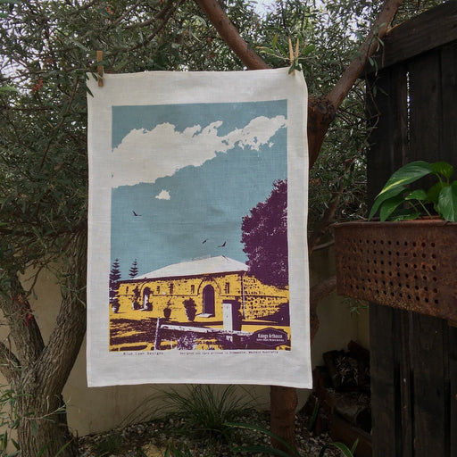 Photo of Kidogo Arthouse, Fremantle screenprinted on a tea towel.