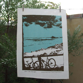 Photo of The Basin at Rottnest Island, screenprinted on a tea towel.