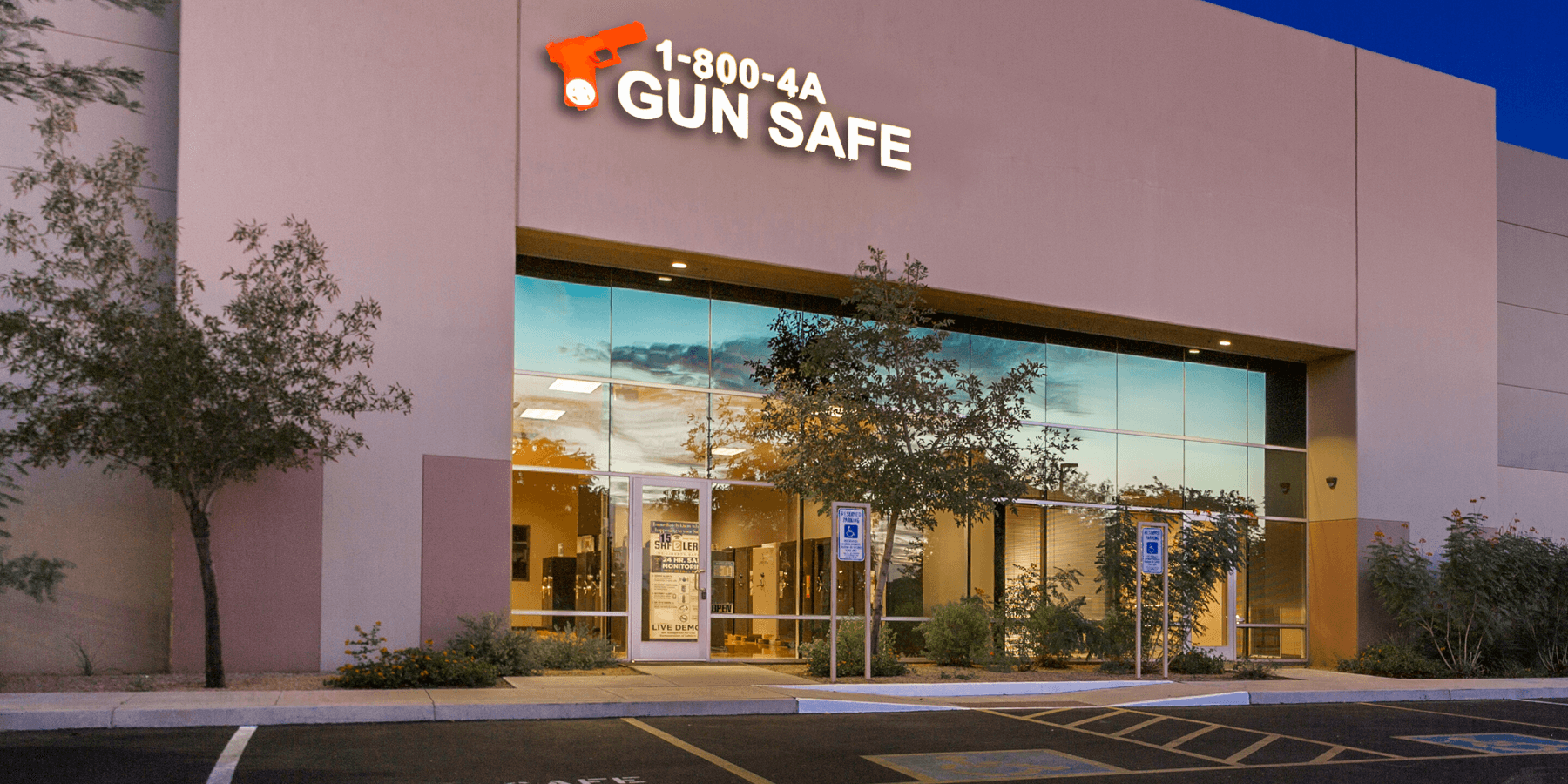 800 4 a gun safe showroom