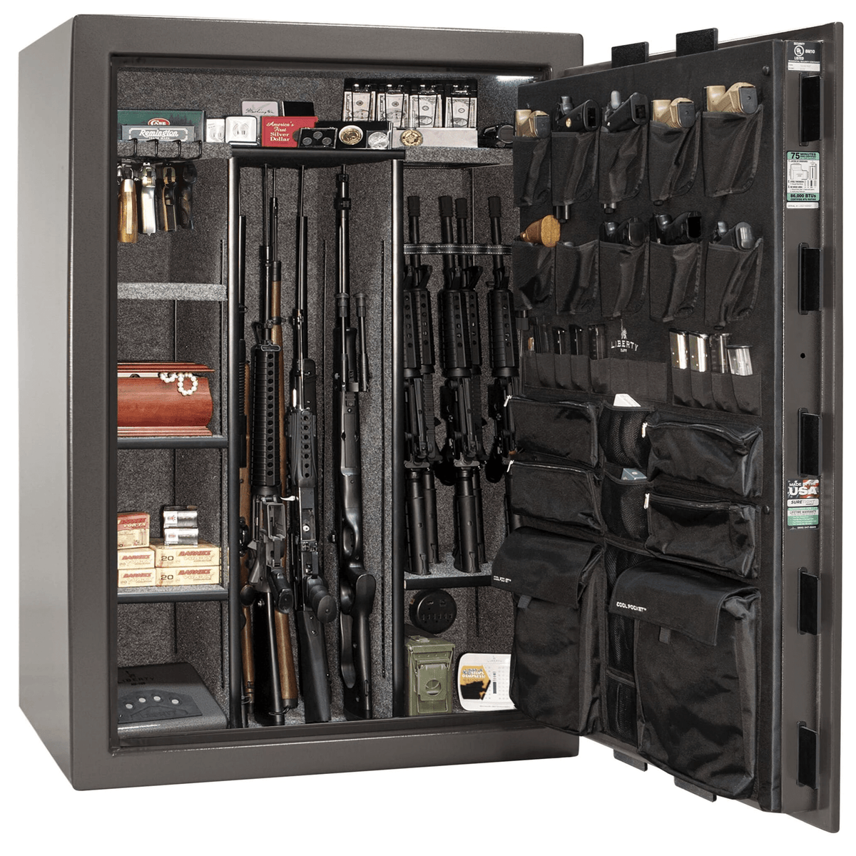 "Fatboy Extreme | 64 | Level 4 Security | 75 Minute Fire Protection | Gray | Black Electronic Lock | 60.5""(H) x 42""(W) x 32""(D)"