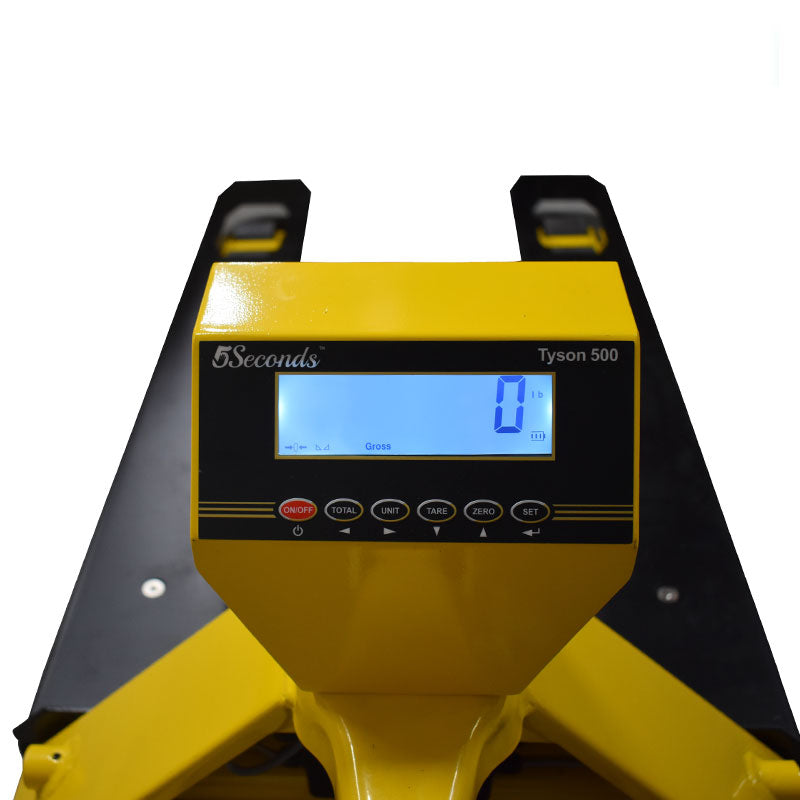 5Seconds™ Tyson500 Series Pallet Jack Scale/ Yellow & Black / 5000 lbs