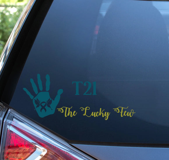 Down Syndrome Awareness T21 The Lucky Few Decal