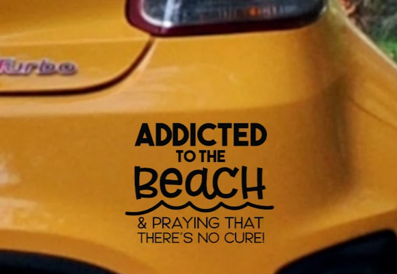 Addicted to the Beach Vinyl Decal