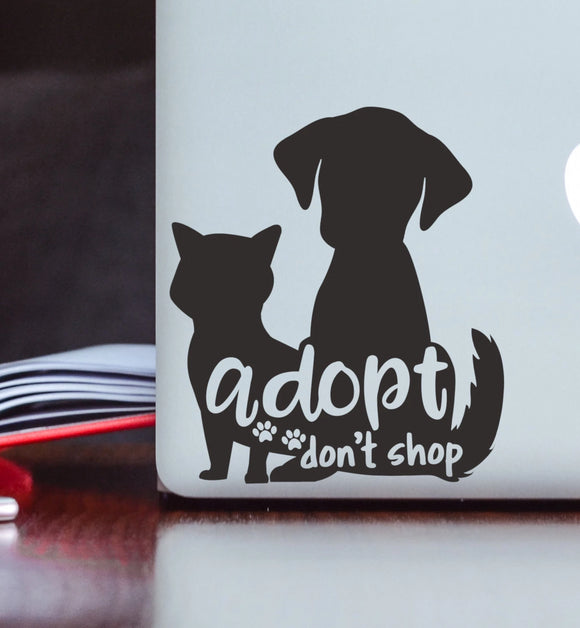 Adopt Don't Shop - Shelter Pets Vinyl Decal