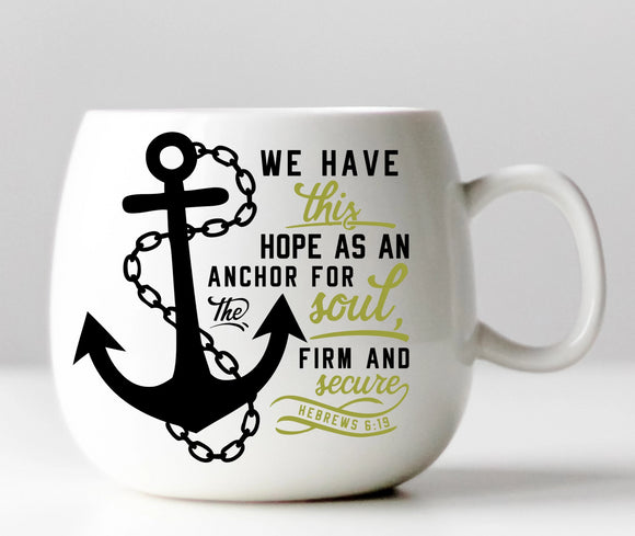 An Anchor of Hope - Christian Vinyl Decal