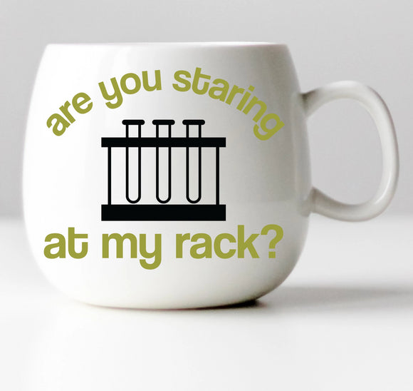Are You Staring at My Rack? Chemistry Vinyl Decal