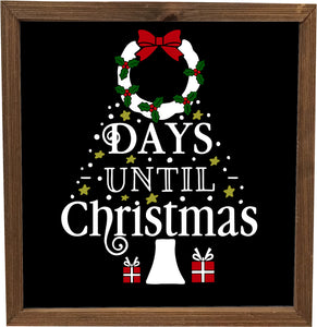 Days Until Christmas Vinyl Decal - DIY Advent Calendar