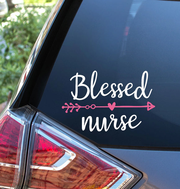 Blessed Nurse Vinyl Decal