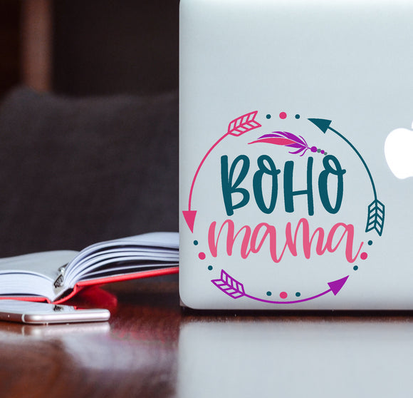 Boho Mama Decal - Crunchy Mama Sticker