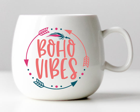 Boho Vibes Vinyl Decal - Choose from 2 Designs