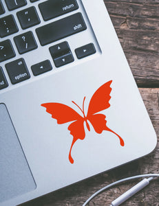 Flared Wing Butterfly Vinyl Decal