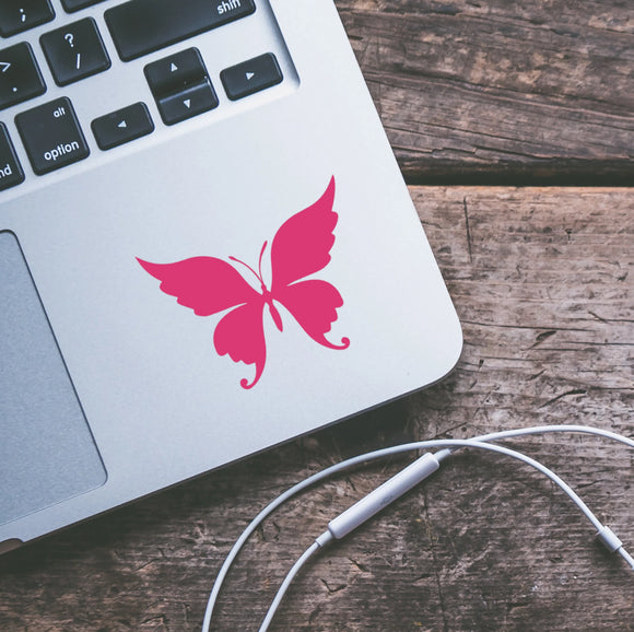 Feathered Butterfly Vinyl Decal