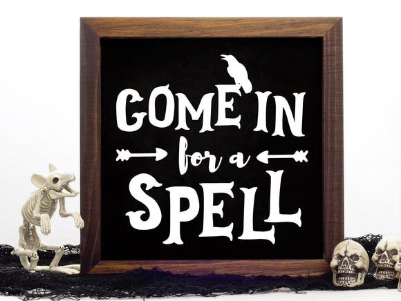 Come in for a Spell Vinyl Decal - DIY Halloween Sign