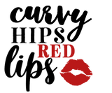 Curvy Hips and Red Lips Vinyl Decal