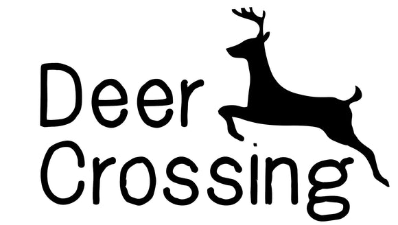 Deer Crossing Vinyl Decal