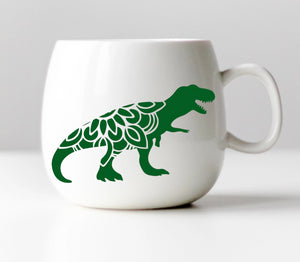 T-Rex Mandala Vinyl Decal