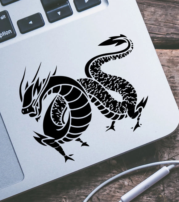 Long Tail Four Legged Dragon Vinyl Decal
