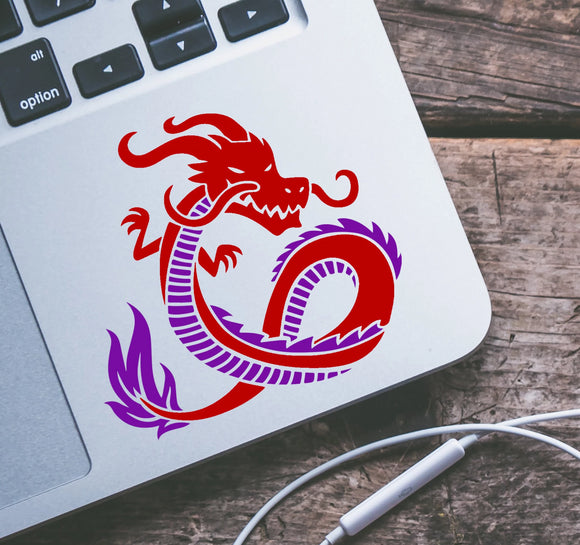 Classic Oriental Dragon Vinyl Decal