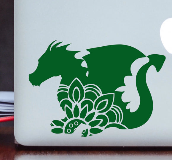 Dragon Mandala Vinyl Decal