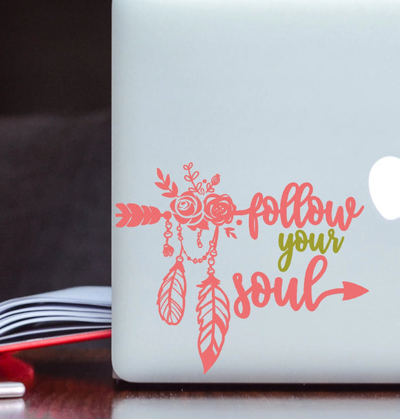 Follow Your Soul Vinyl Decal - Boho Decal