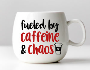 Fueled by Caffeine and Chaos Vinyl Decal
