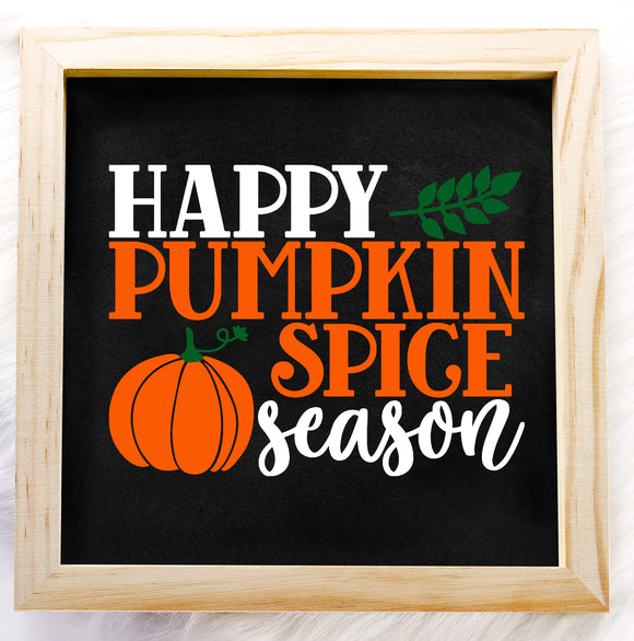 Happy Pumpkin Spice Season Vinyl Decal - DIY Fall Decor Sign