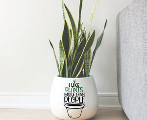 I Like Plants More Than People Vinyl Decal