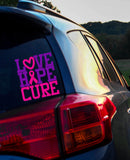 Love Hope Cure Cancer Awareness Vinyl Decal