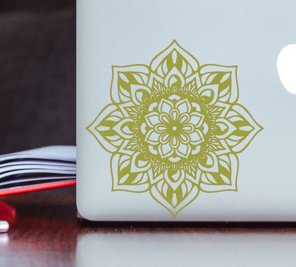 Detailed Sun Mandala Vinyl Decal