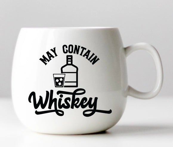 May Contain Whiskey Vinyl Decal