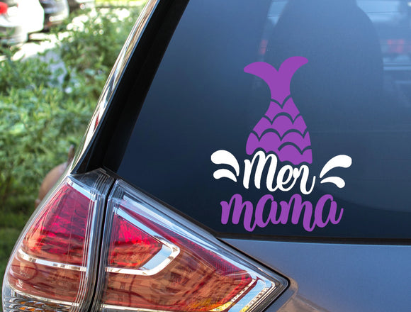 Mer Mama Mermaid Vinyl Decal