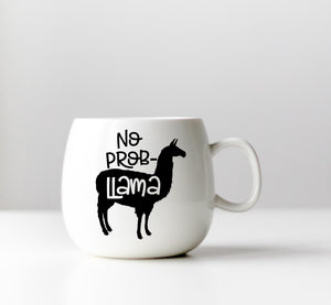 No Probllama Vinyl Decal