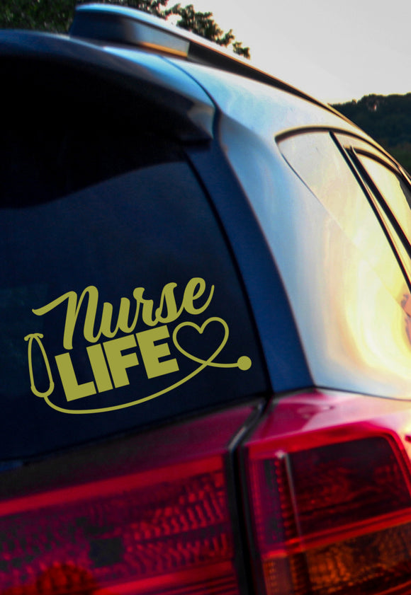 Nurse Life Vinyl Decal