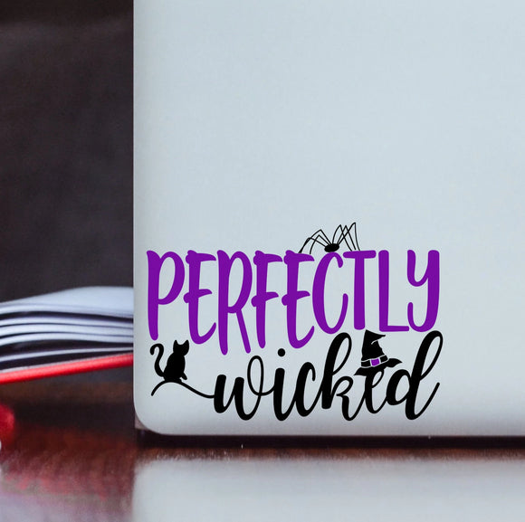 Perfectly Wicked Halloween Vinyl Decal