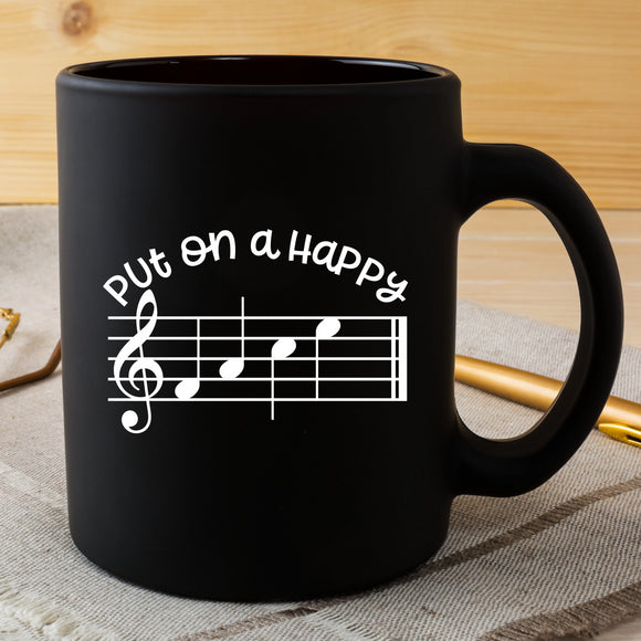 Put on a Happy FACE - Music Teacher Vinyl Decal