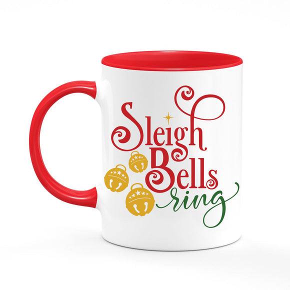 Sleigh Bells Ring Christmas Coffee Mug