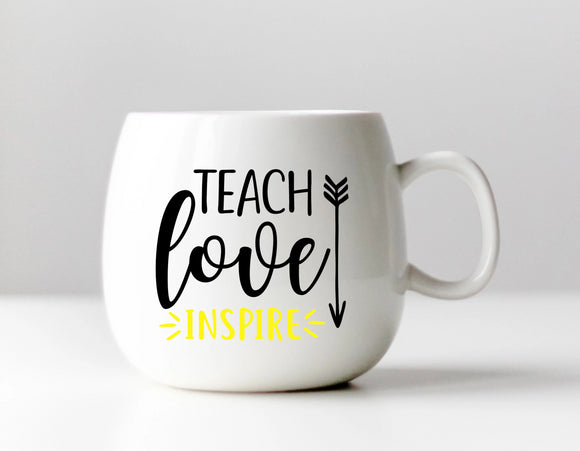 Teach Love Inspire Teacher Vinyl Decal