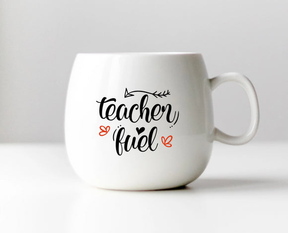 Teacher Fuel Vinyl Decal