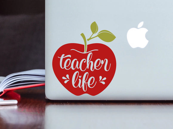 Teacher Life Vinyl Decal