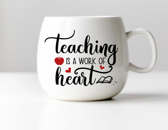 Teaching is a Work of Heart Vinyl Decal