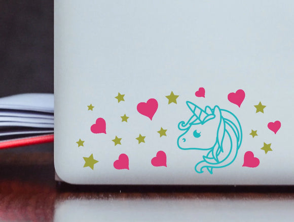 Cute Cartoonish Unicorn Vinyl Decal