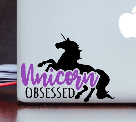 Unicorn Obsessed Vinyl Decal