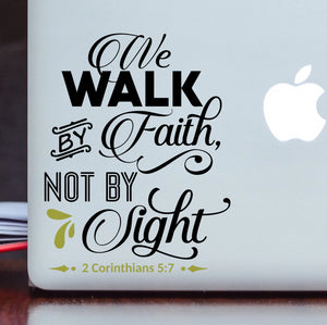 We Walk By Faith Vinyl Decal