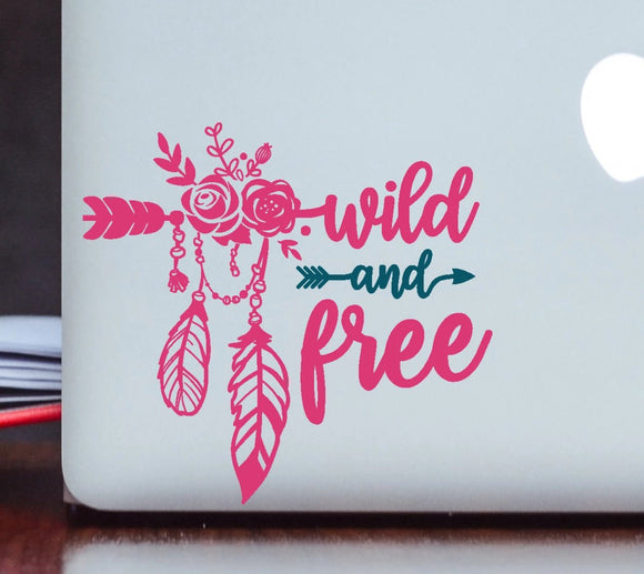 Wild and Free Vinyl Decal - Boho Decal