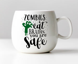 Zombies Eat Brains Vinyl Decal
