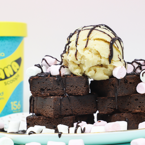 Ultimate Vegan Chocolate Brownie with Banana Scoops